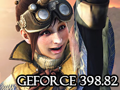 「MONSTER HUNTER: WORLD」最適化版となる「GeForce 398.82 Driver」が登場