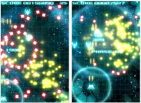 [iPhone]ギガ連射,画面がド派手なSTG「Techno Trancer」配信