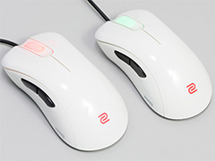 BenQ ZOWIE「EC1-A White」&「EC2-A White」ファーストインプレッション。白いIE 3.0クローンマウスに触ってみた